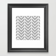 GRAY THIN CHEVRON Framed Art Print