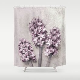 Delicate Hyacinths Shower Curtain