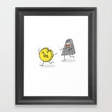 RUN CHEESE WHEEL! Framed Art Print