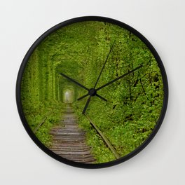 Inside The Tunnel Of Love Wall Clock