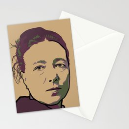 Simone de Beauvoir Stationery Cards