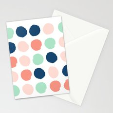 Painted dots pattern minimal basic nursery decor home trends colorful art Stationery Cards