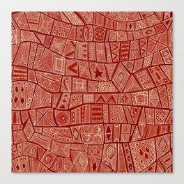 ESHE red mono Canvas Print