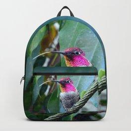 Hummingbird Raspberries Backpack
