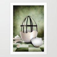 egg Art Prints featuring Egg by Arvydas Butautas