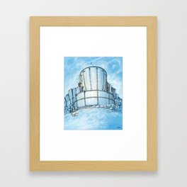 Disc Golf Fantasy Art - Ice Basket Framed Art Print