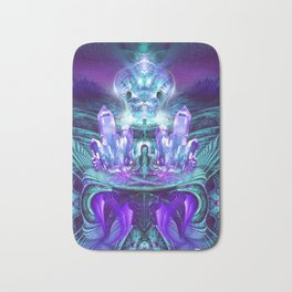 Expanding horizons - Visionary - Fractal - Manafold Art Bath Mat