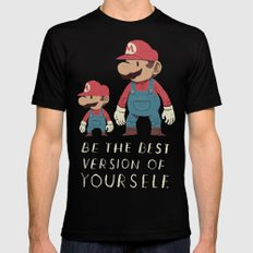 be the best version of yourself Black Mens Fitted Tee MEDIUM