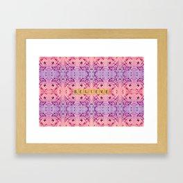 Purple and Pink Butterflies-BELIEVE Framed Art Print
