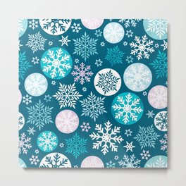Magical snowflakes IV Metal Print