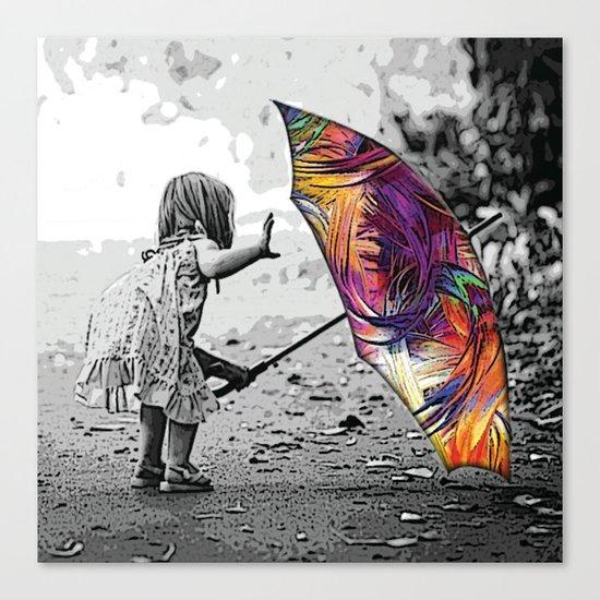 Singing In The rain Canvas Print
