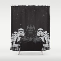 animal crew Shower Curtains featuring The crew by Roland Banrevi