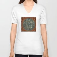 portal V-neck T-shirts featuring Portal by DesignsByMarly