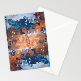 Copper and Denim Abstract Stationery Cards