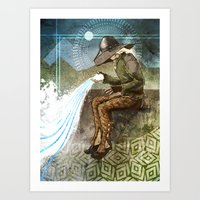 "dragon age inquisition Art Prints featuring Dragon Age Inquisition - Cole - Charity by Barbara ""Yuhime"" Wyrowińska"