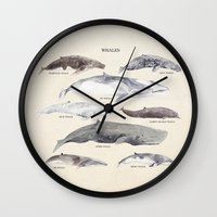 whales Wall Clocks featuring Whales by BySamantha | Samantha Ranlet
