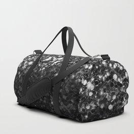 Black & Silver Glitter Gradient Duffle Bag