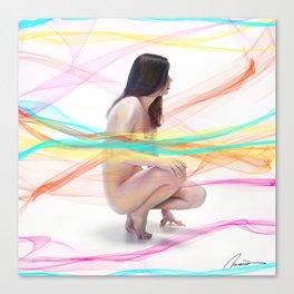 Natasha with Veils Canvas Print