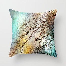 Out On A Limb Jewel Tones Throw Pillow