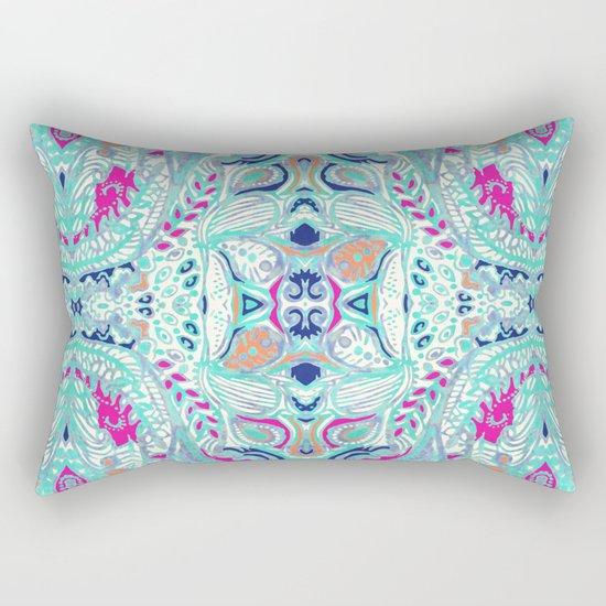 Bright Damask Jungle Rectangular Pillow