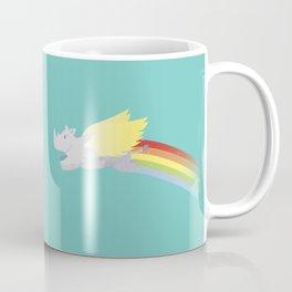 Flying Rhino Coffee Mug