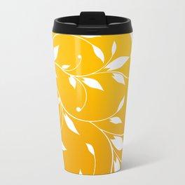 FLOWERY VINES | yellow white Travel Mug