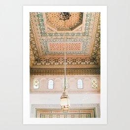 Marrakech ceiling Art Print