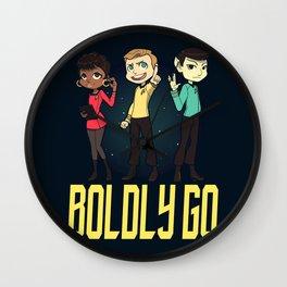 Boldly Go! Wall Clock