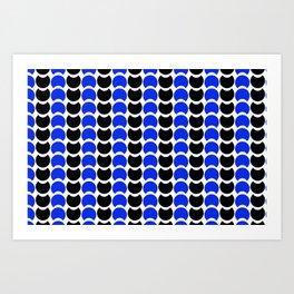HobNob BlueBlack Print, Canvas and Laptop/iPad Skin Art Print