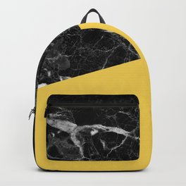 Black Marble and Primrose Yellow Color Backpack