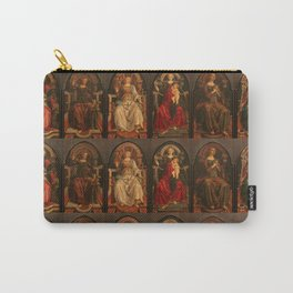"""Sandro Botticelli and Piero del Pollaiolo """"Theological and cardinal virtues"""" Carry-All Pouch"""