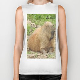 Capybara Biker Tank
