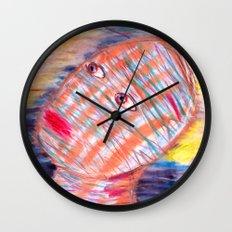 Plaid Head2 Wall Clock
