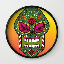 Sugar skull #15 Wall Clock