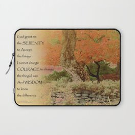 Serenity Prayer Autumn Harmony Laptop Sleeve