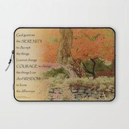Serenity Prayer Autumn Harmony Laptop Sleeve