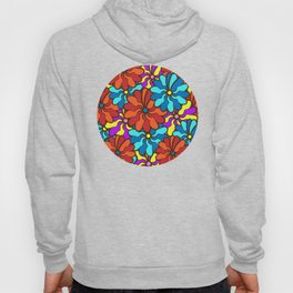 floral background. field of multi colored bright summer colors for the background Hoody
