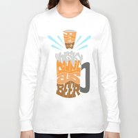 homer Long Sleeve T-shirts featuring DoesBeerCountAsWhiskey?-Homer by PositiveFuture