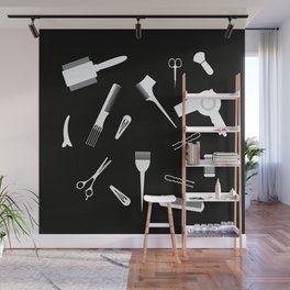Hairdressing Tools Wall Mural