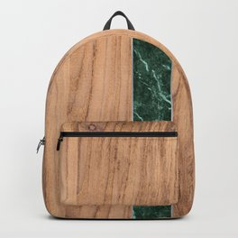 Wood Grain Stripes - Green Granite #901 Backpack