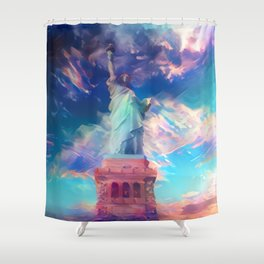 Welcome To The Bright Side Shower Curtain