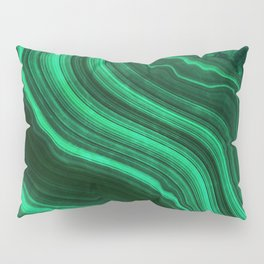 Malachite Texture 08 Pillow Sham