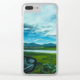 Yellowstone by Automobile (Hayden Valley Views) Clear iPhone Case