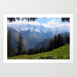 Swiss Alps View Art Print