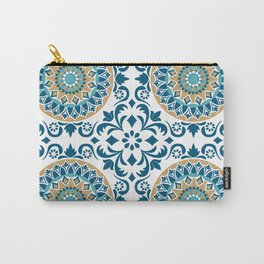 Bluish Variety Pattern Carry-All Pouch