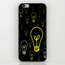 Numerous drawings of incandescent lamps type cartoons iPhone Skin