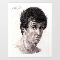 rocky Art Prints featuring Rocky by ChrisHdzArt