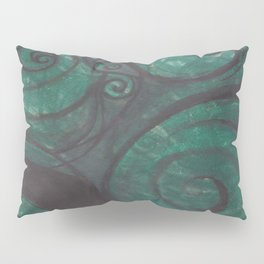 Swirl (black and green) Pillow Sham