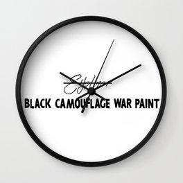 Black Camouflage War Paint Wall Clock