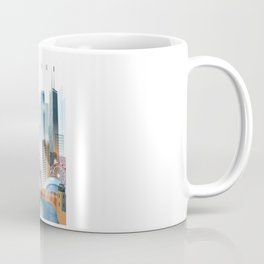 Chicago city skyline painting Coffee Mug